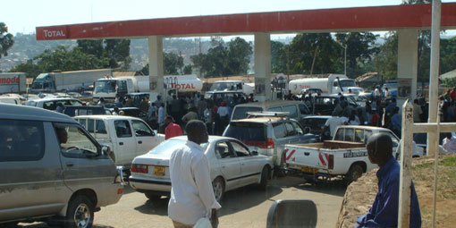 Hunt for fuel at Kampala's petrol stations
